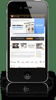 Web Design on iPhone