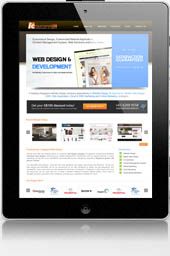 Web Design on iPad